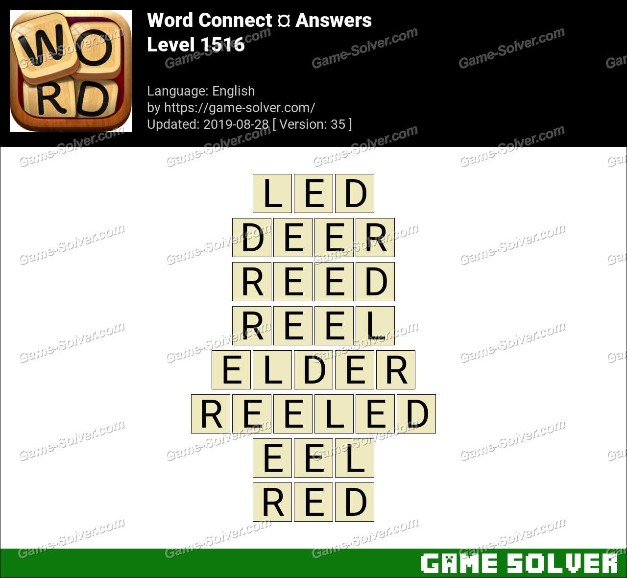 Word Connect Level 1516 Answers
