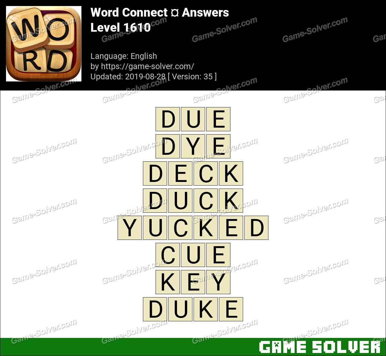 Word Connect Level 1610 Answers