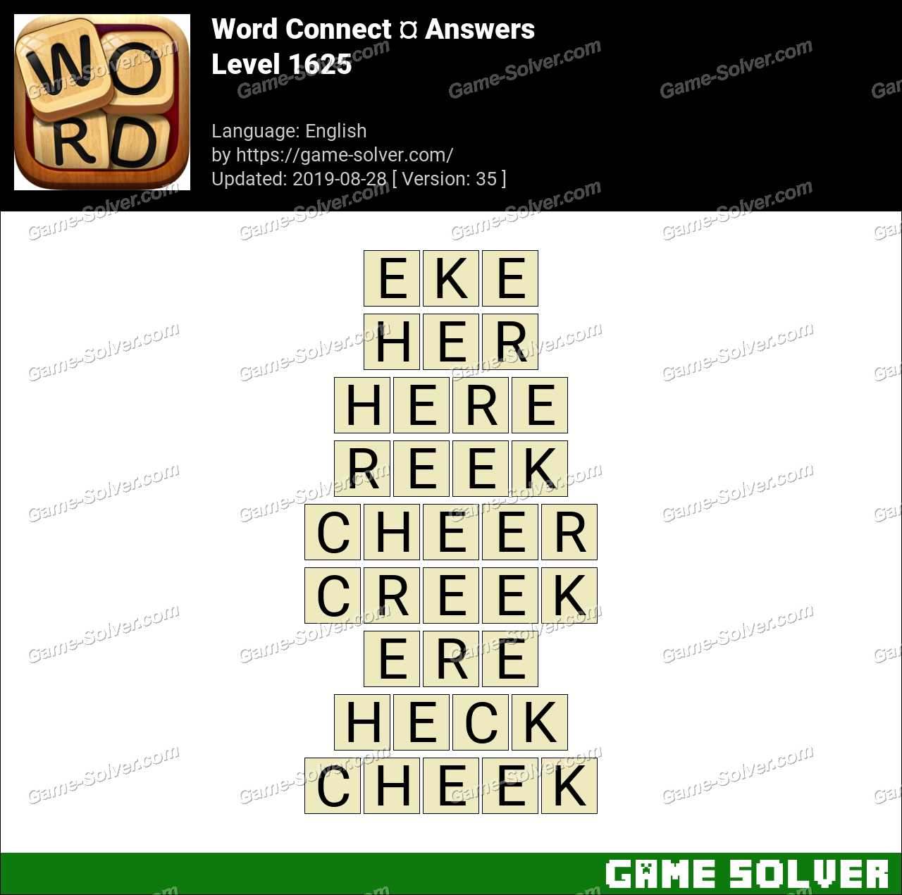 Word Connect Level 1625 Answers