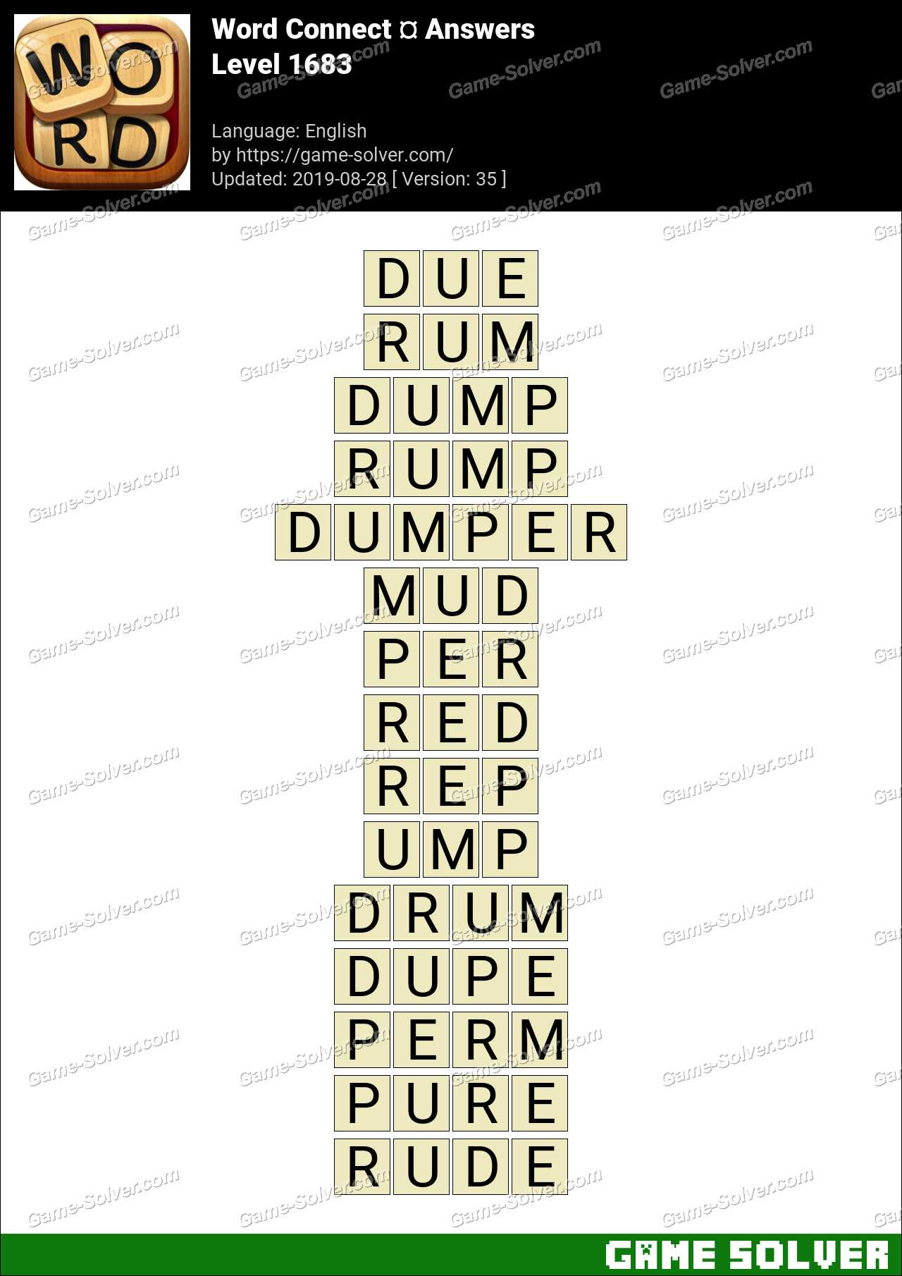 Word Connect Level 1683 Answers
