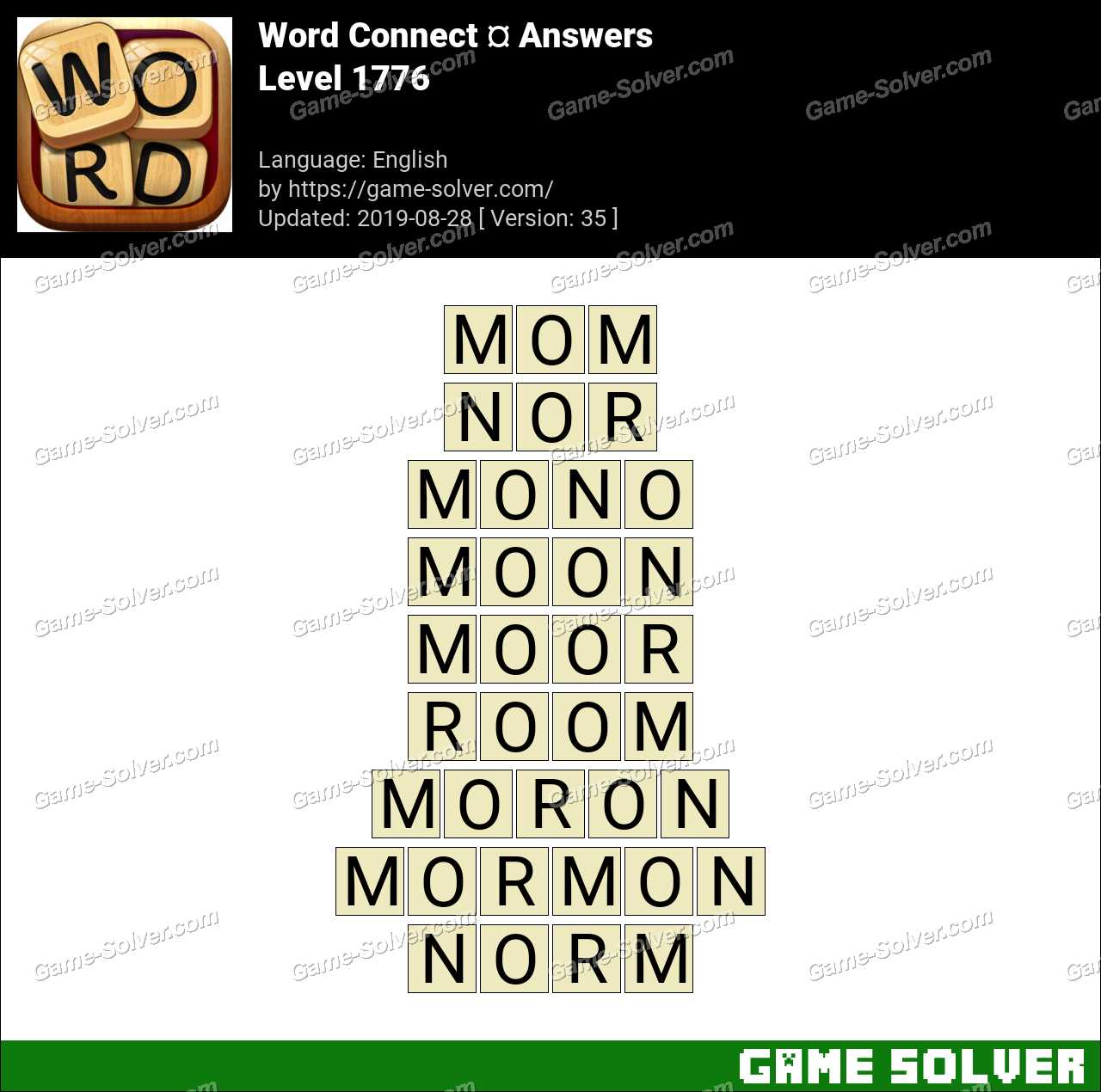 Word Connect Level 1776 Answers