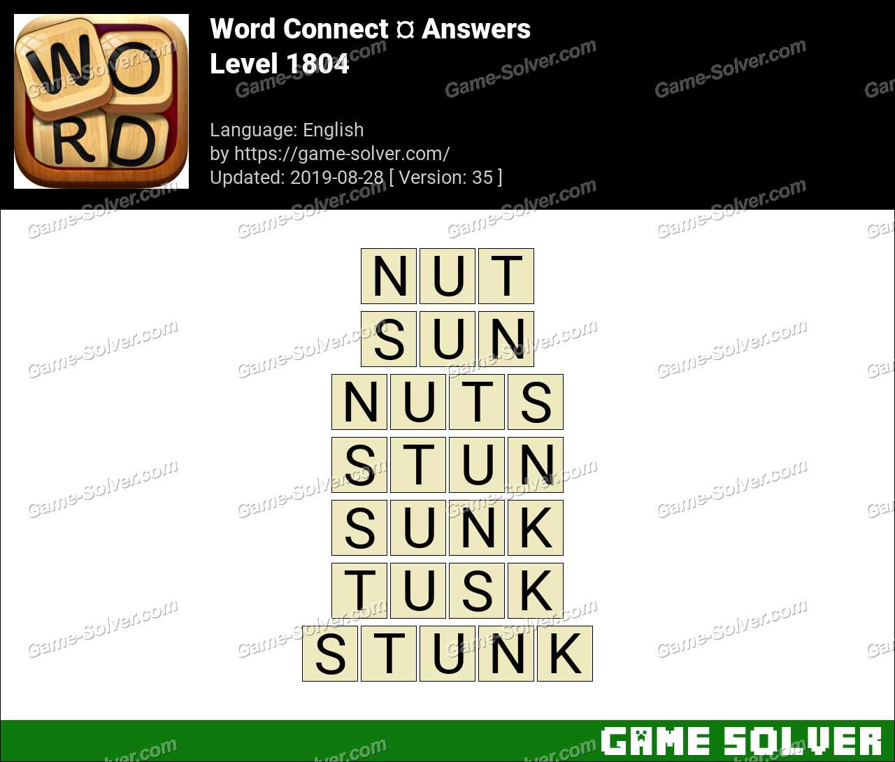 Word Connect Level 1804 Answers