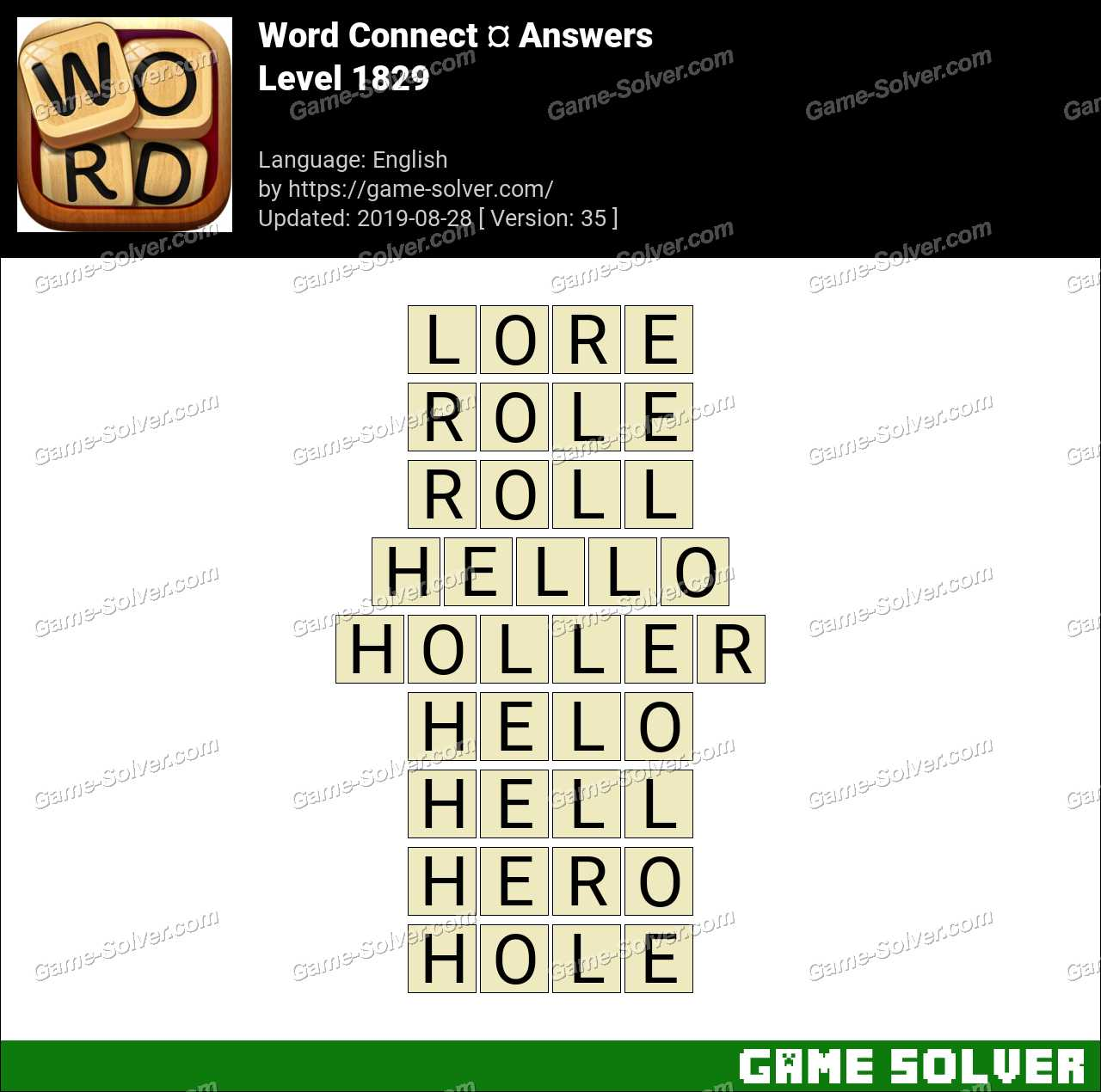 Word Connect Level 1829 Answers