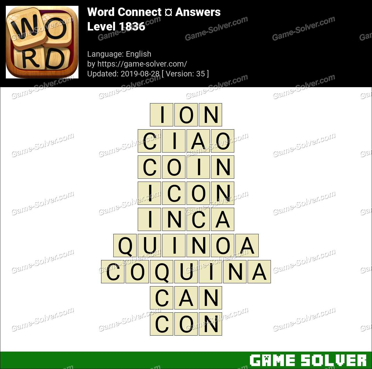 Word Connect Level 1836 Answers