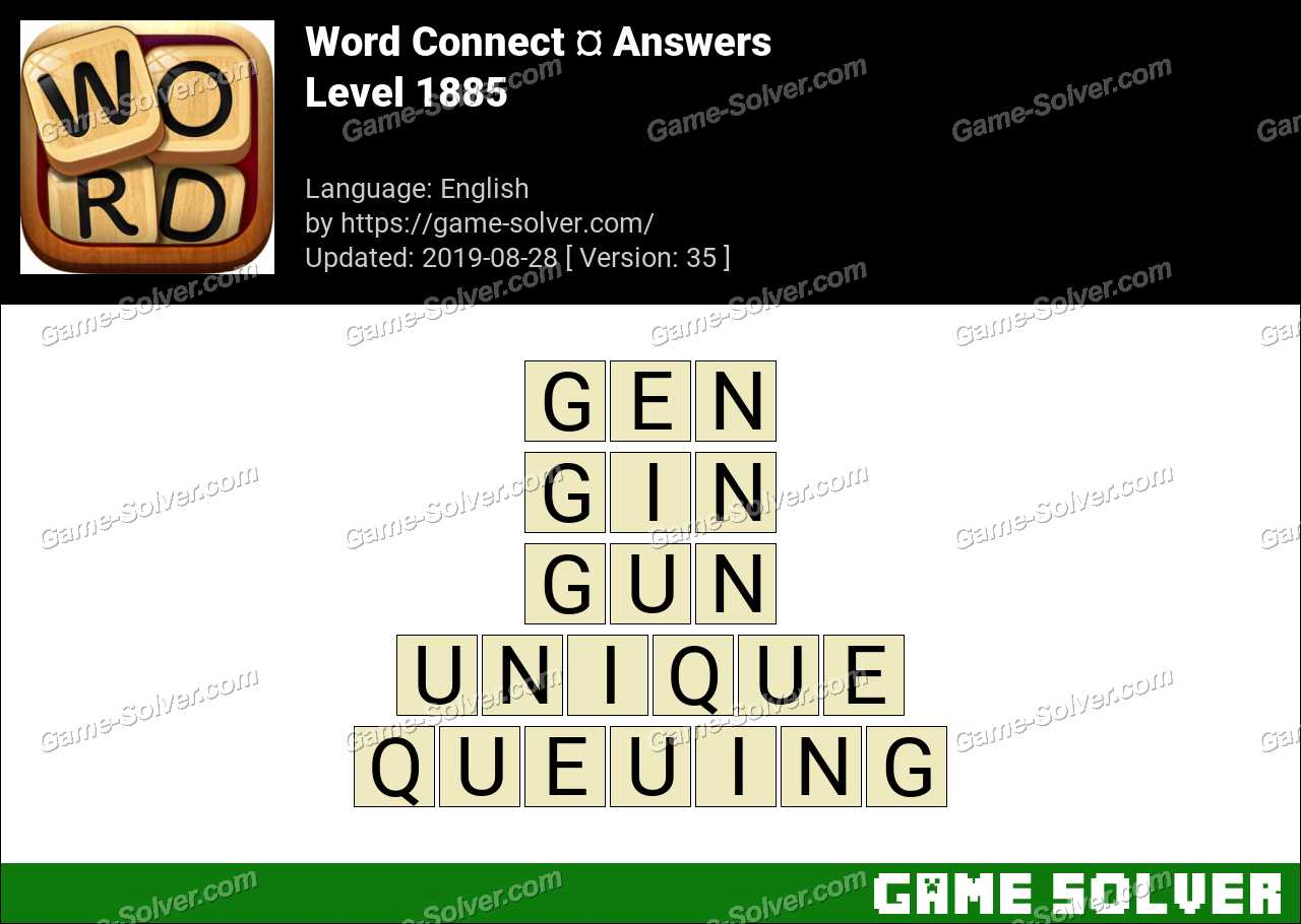 Word Connect Level 1885 Answers