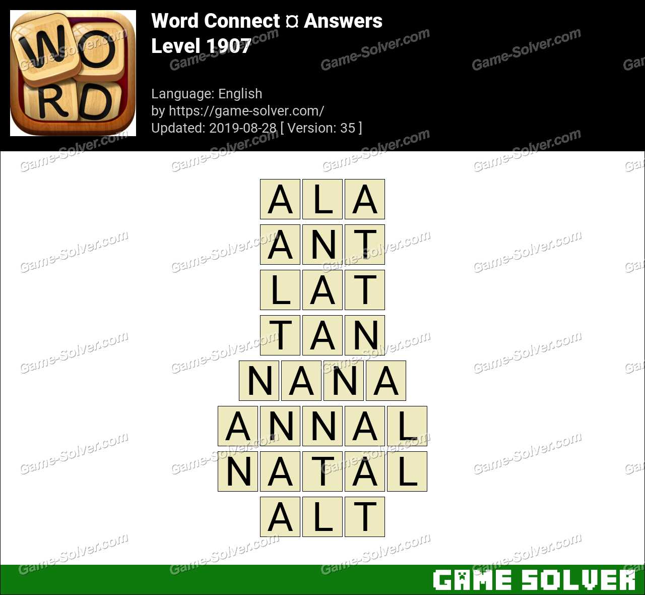 Word Connect Level 1907 Answers
