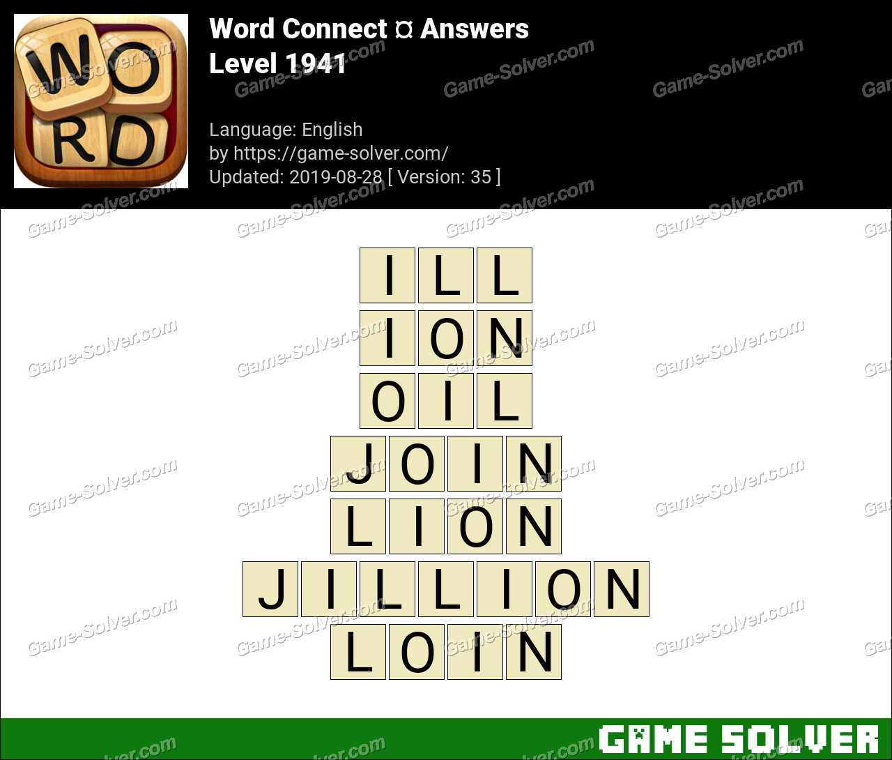 Word Connect Level 1941 Answers