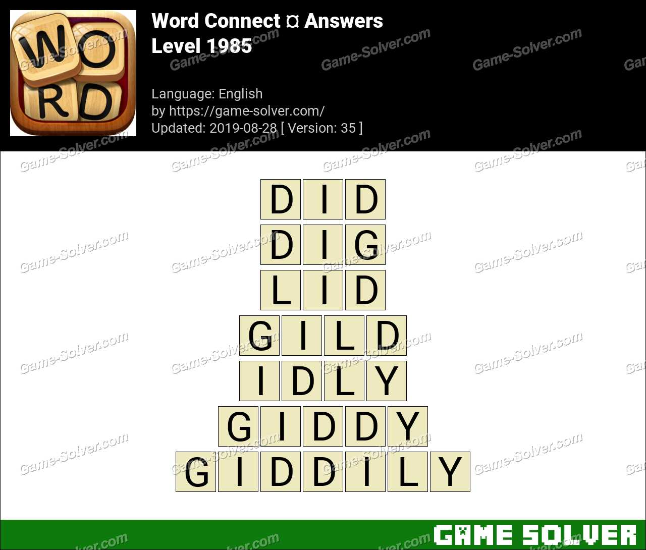 Word Connect Level 1985 Answers