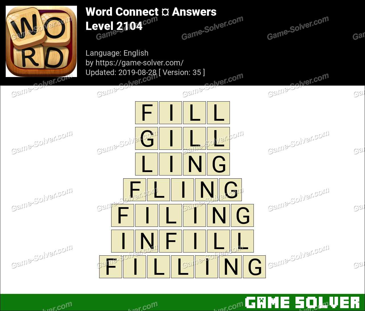 Word Connect Level 2104 Answers