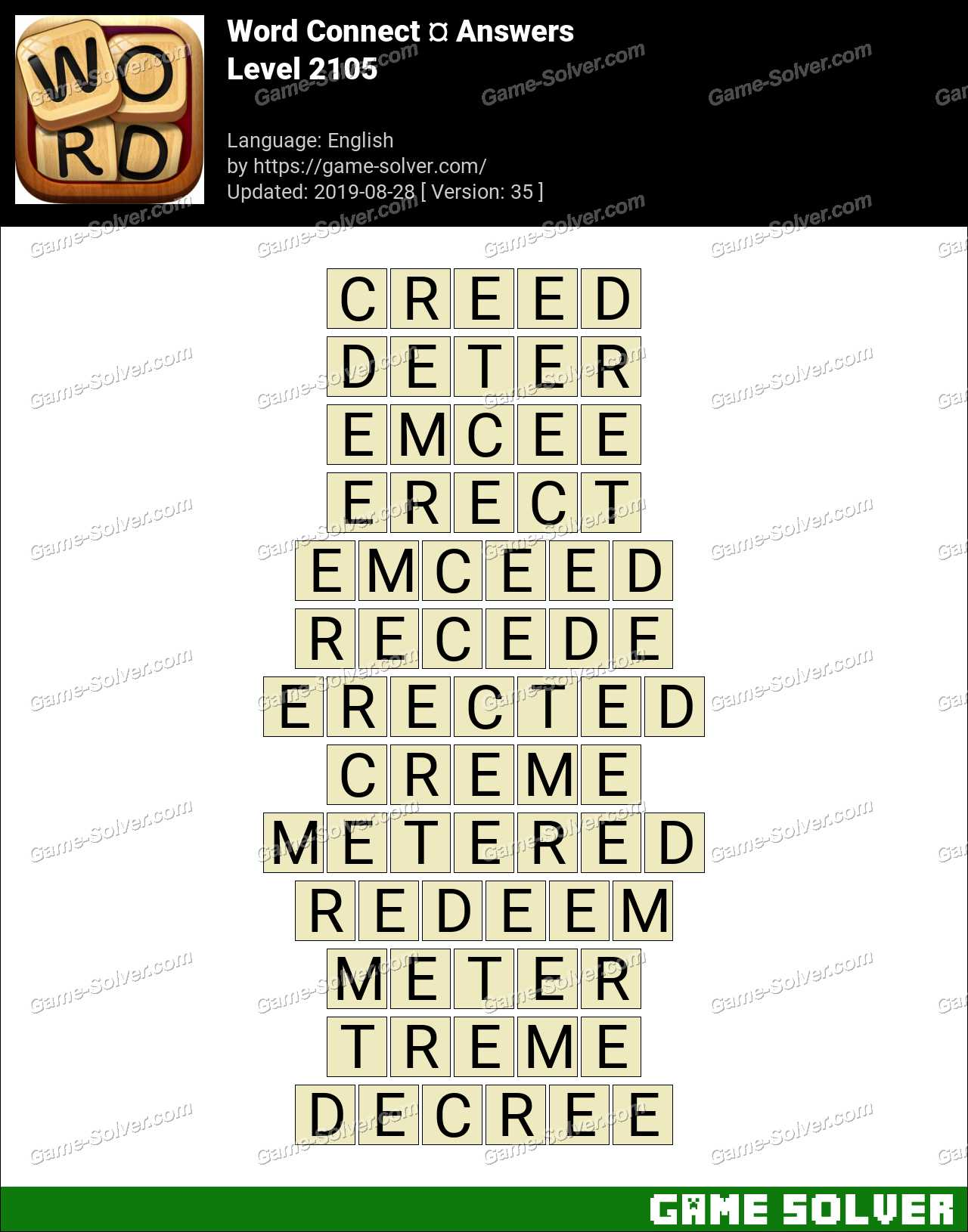 Word Connect Level 2105 Answers