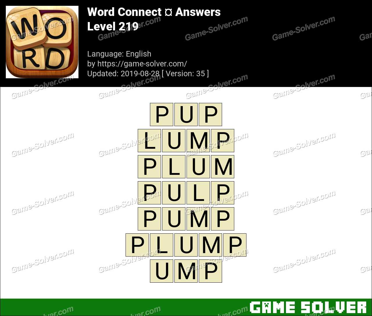 Word Connect Level 219 Answers