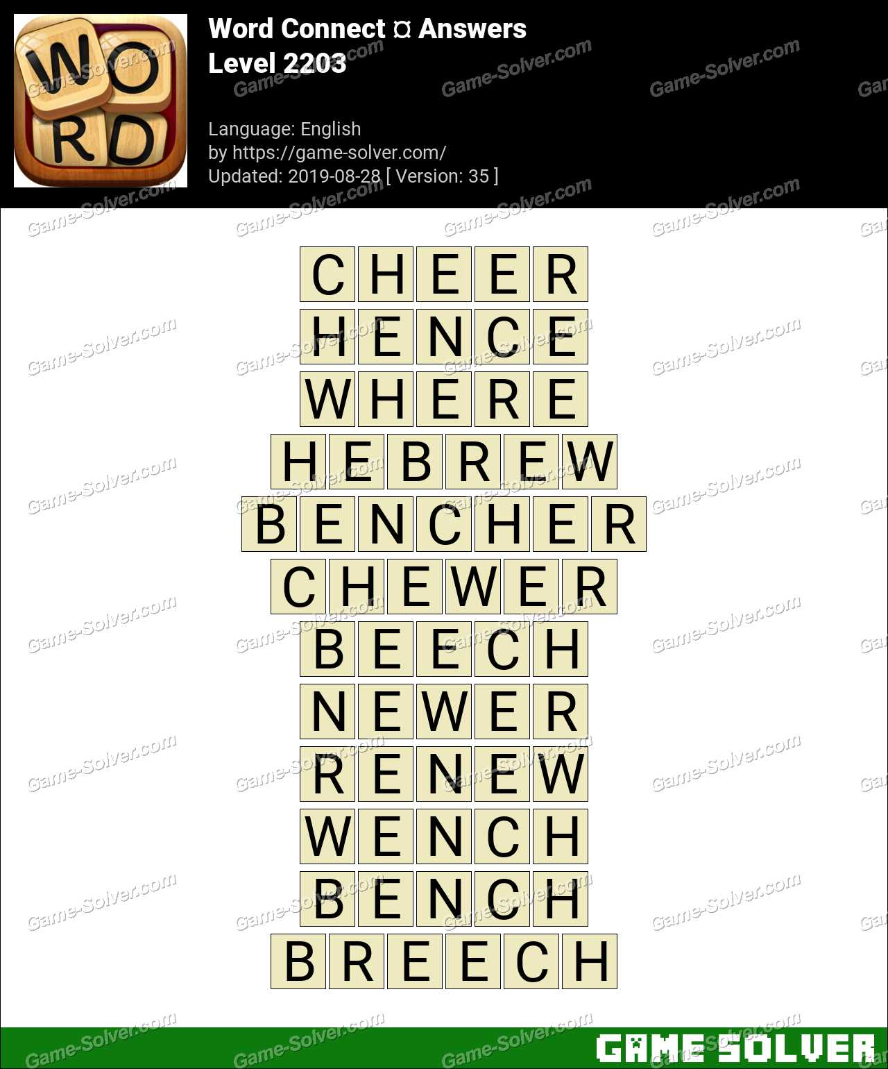 Word Connect Level 2203 Answers