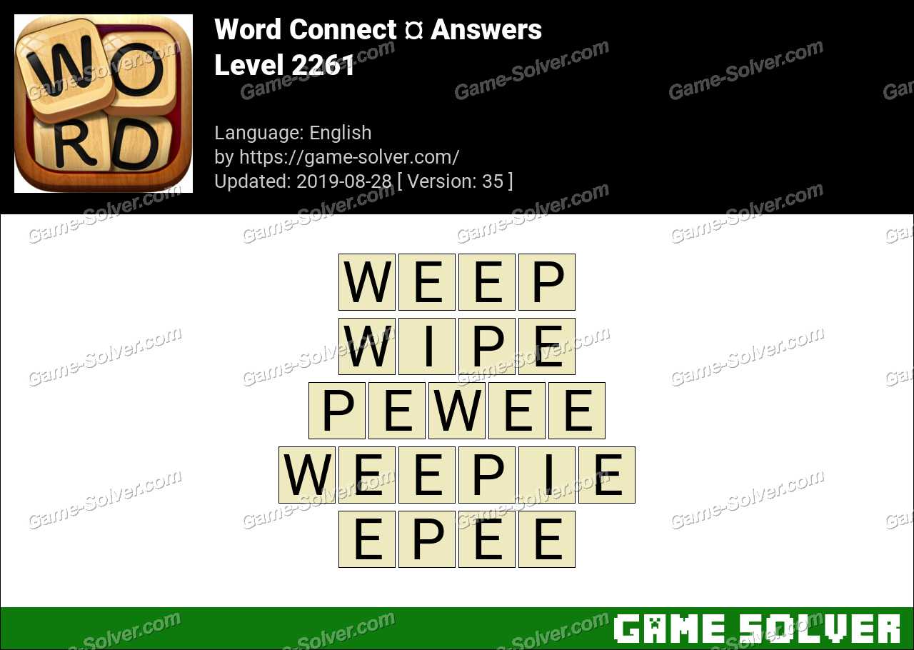 Word Connect Level 2261 Answers