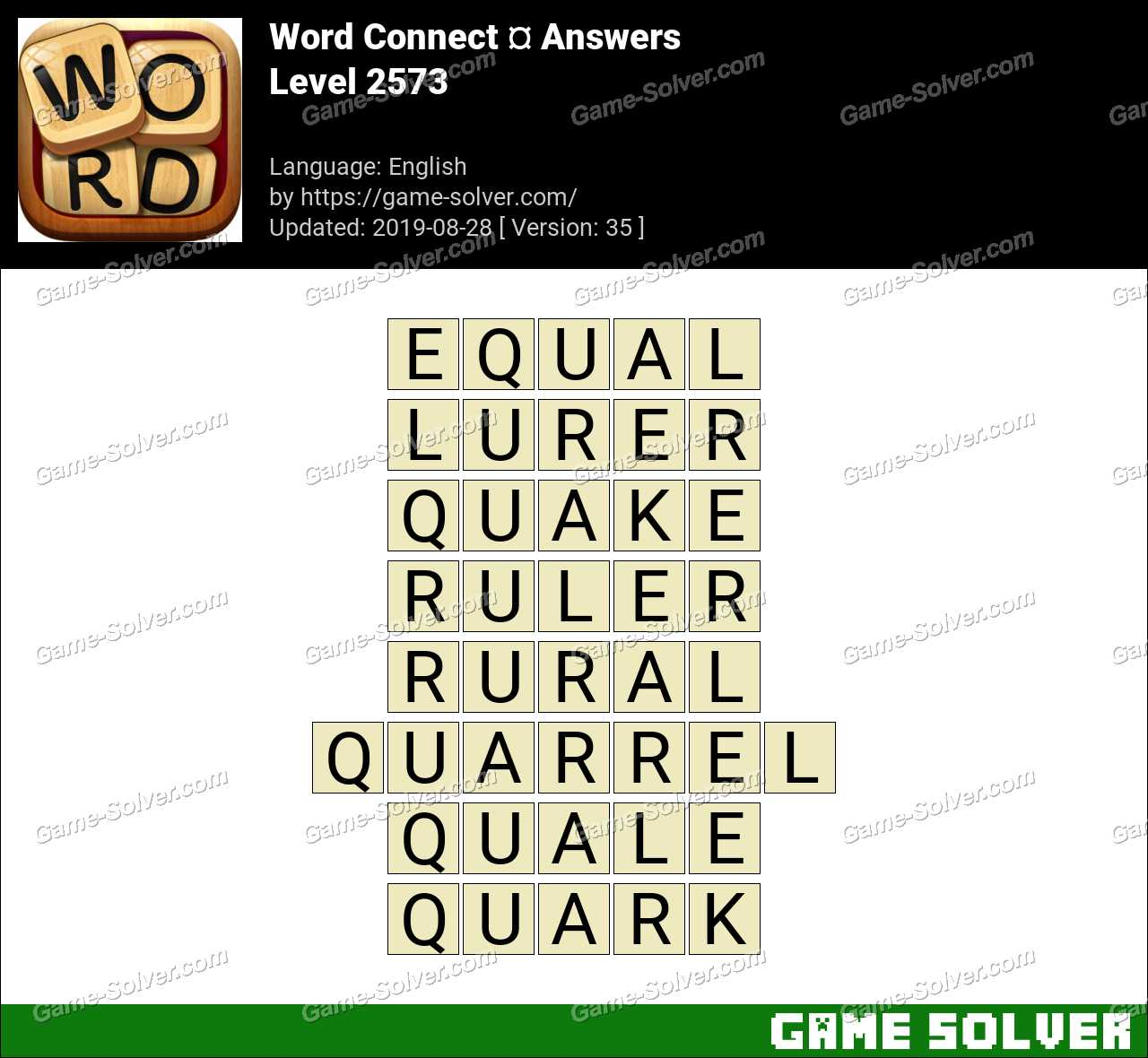 Word Connect Level 2573 Answers