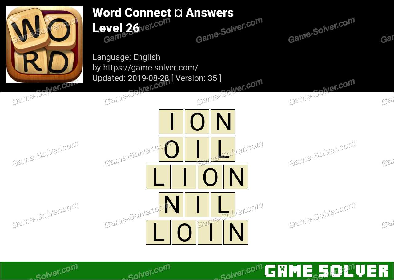 Word Connect Level 26 Answers