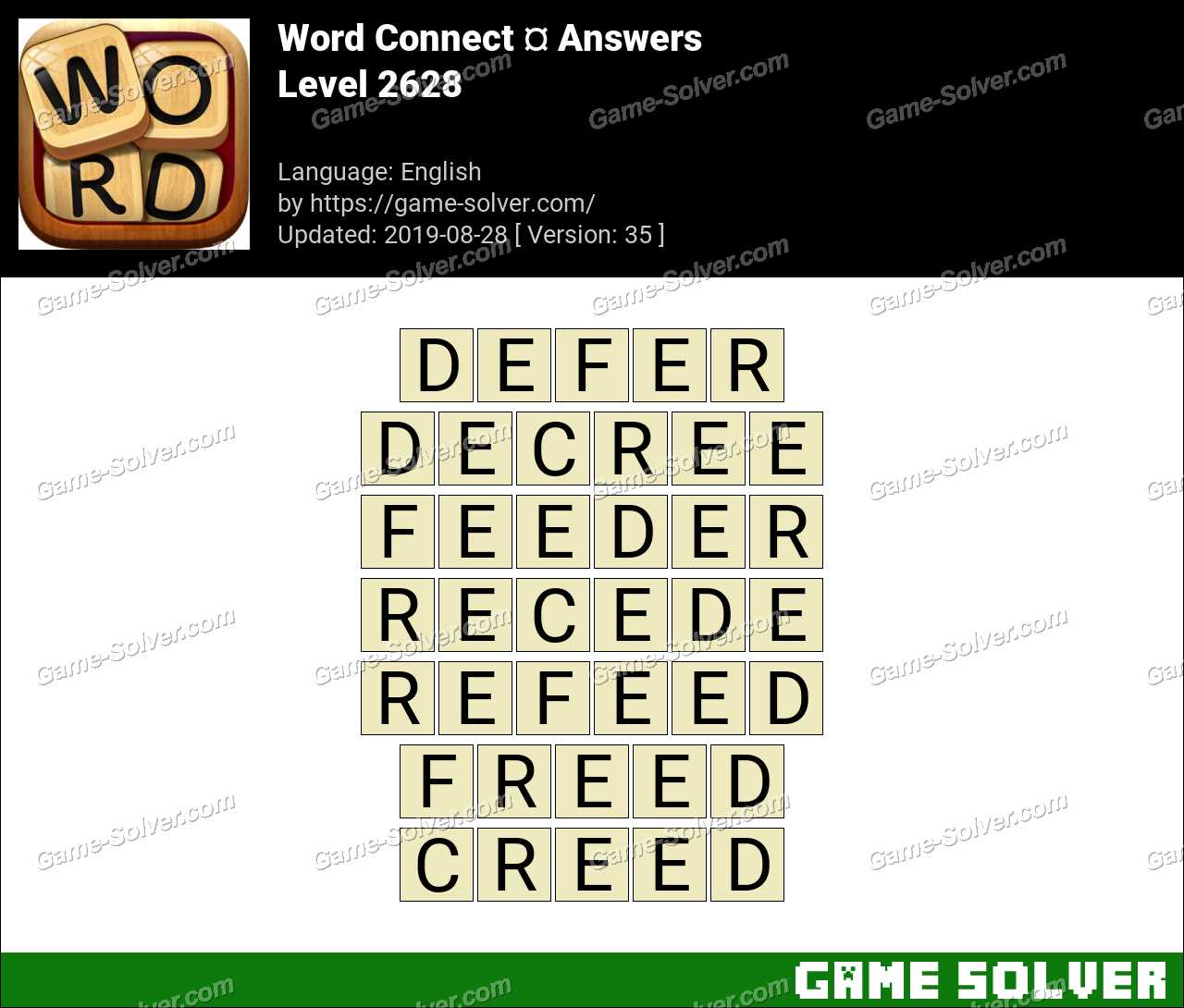 Word Connect Level 2628 Answers