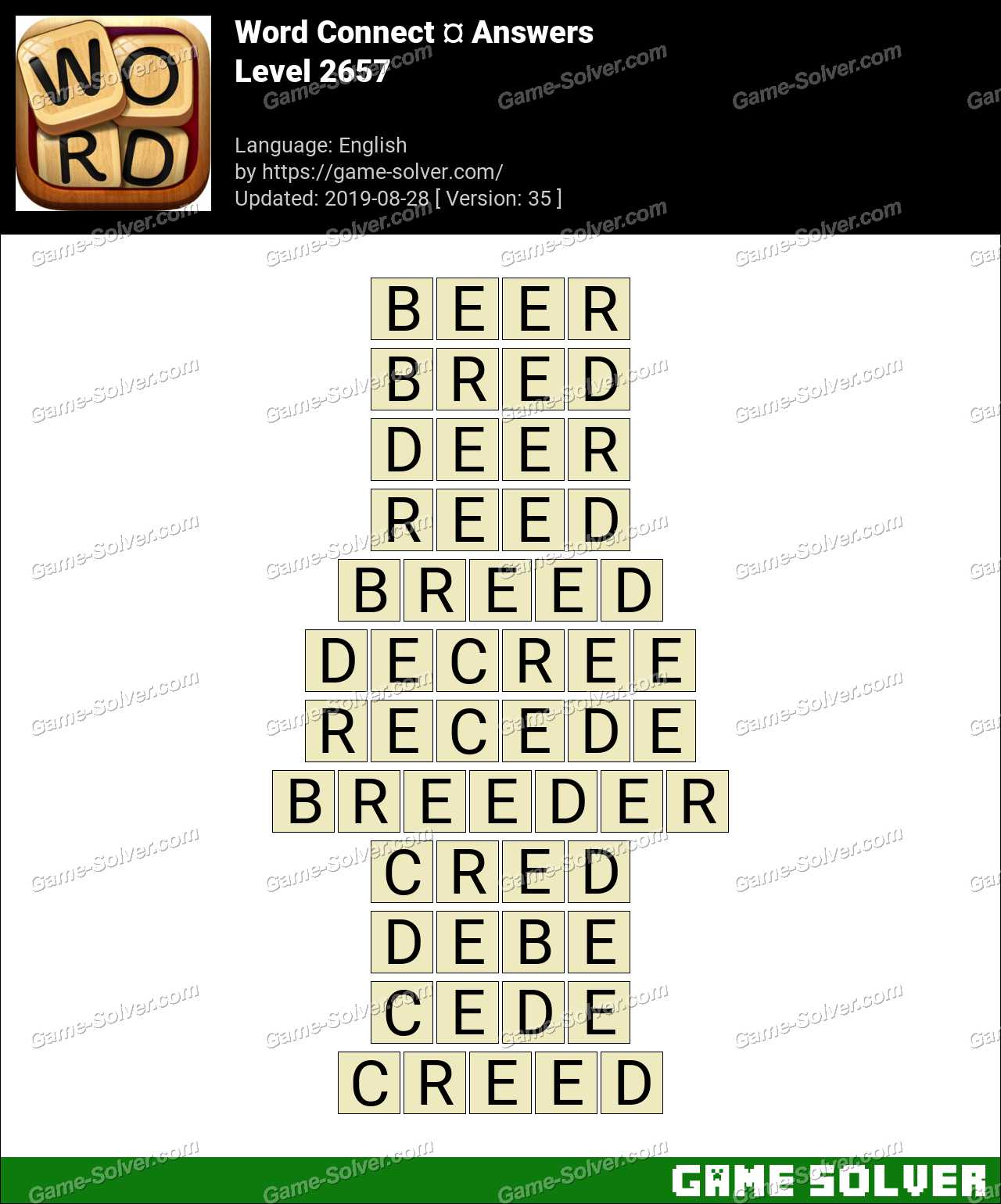 Word Connect Level 2657 Answers