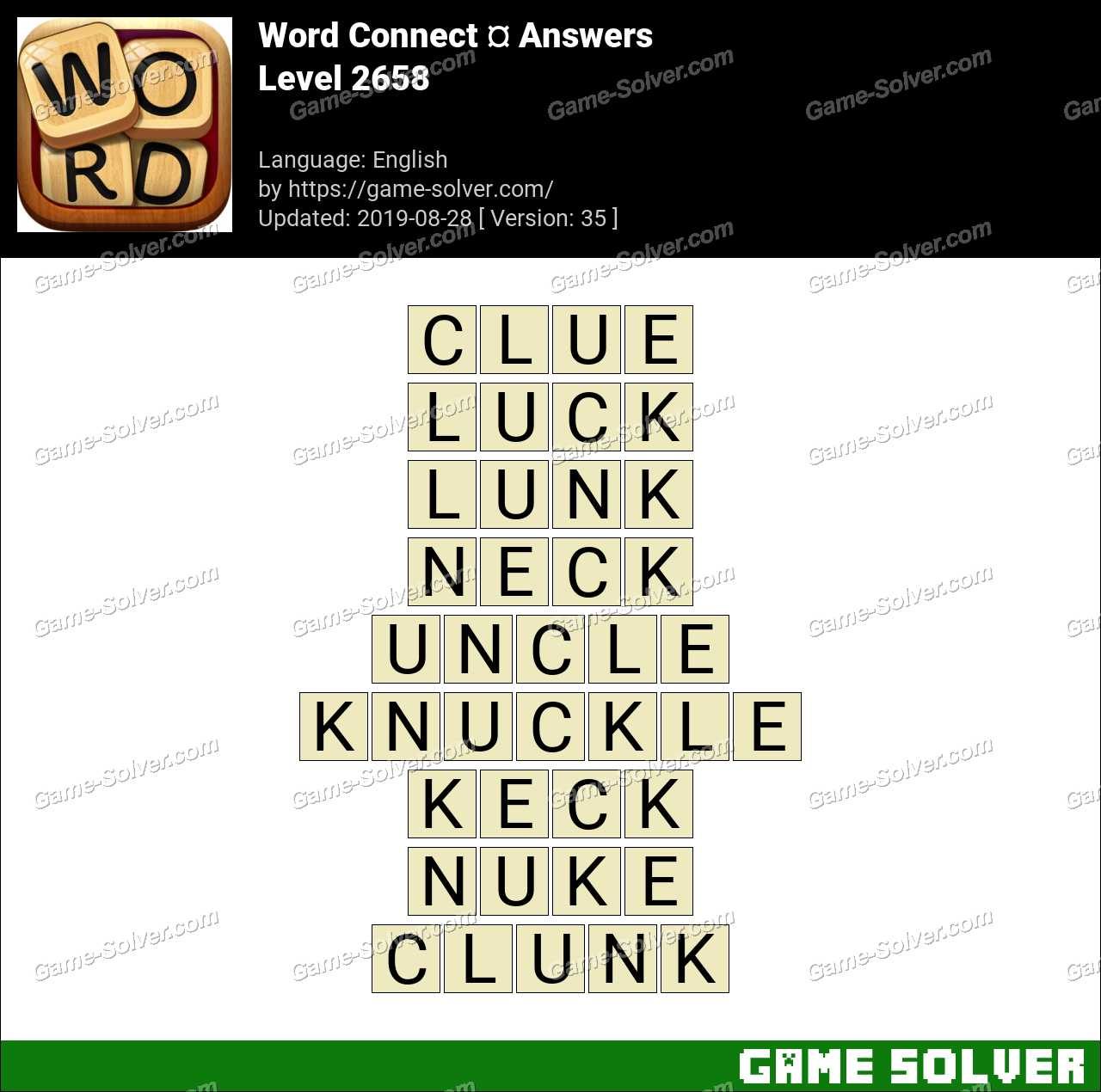 Word Connect Level 2658 Answers