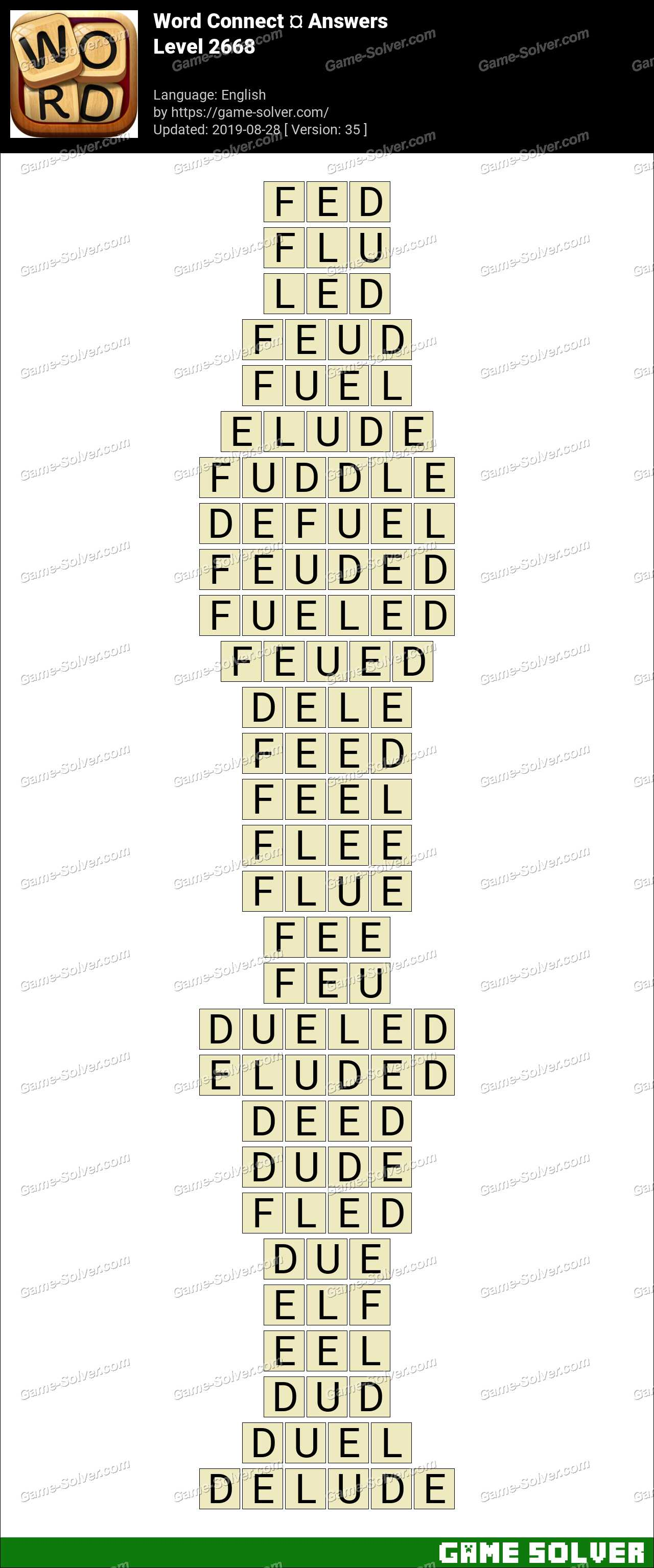 Word Connect Level 2668 Answers