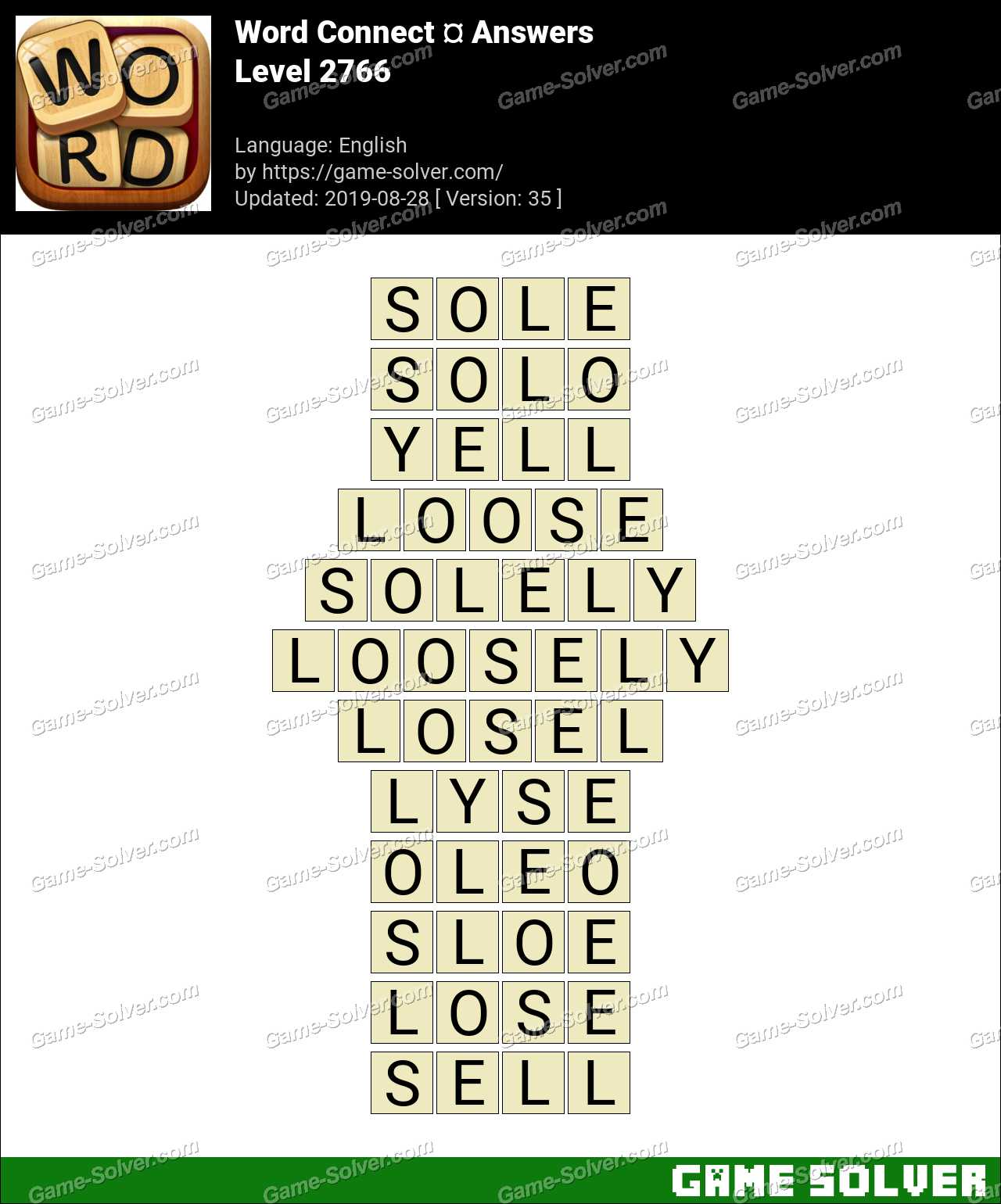 Word Connect Level 2766 Answers