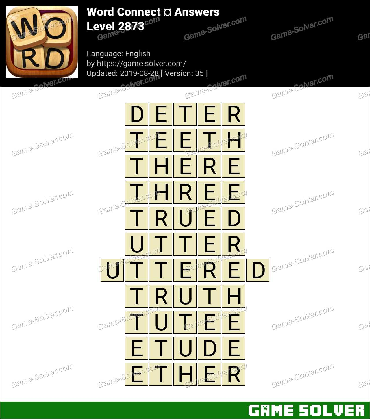 Word Connect Level 2873 Answers