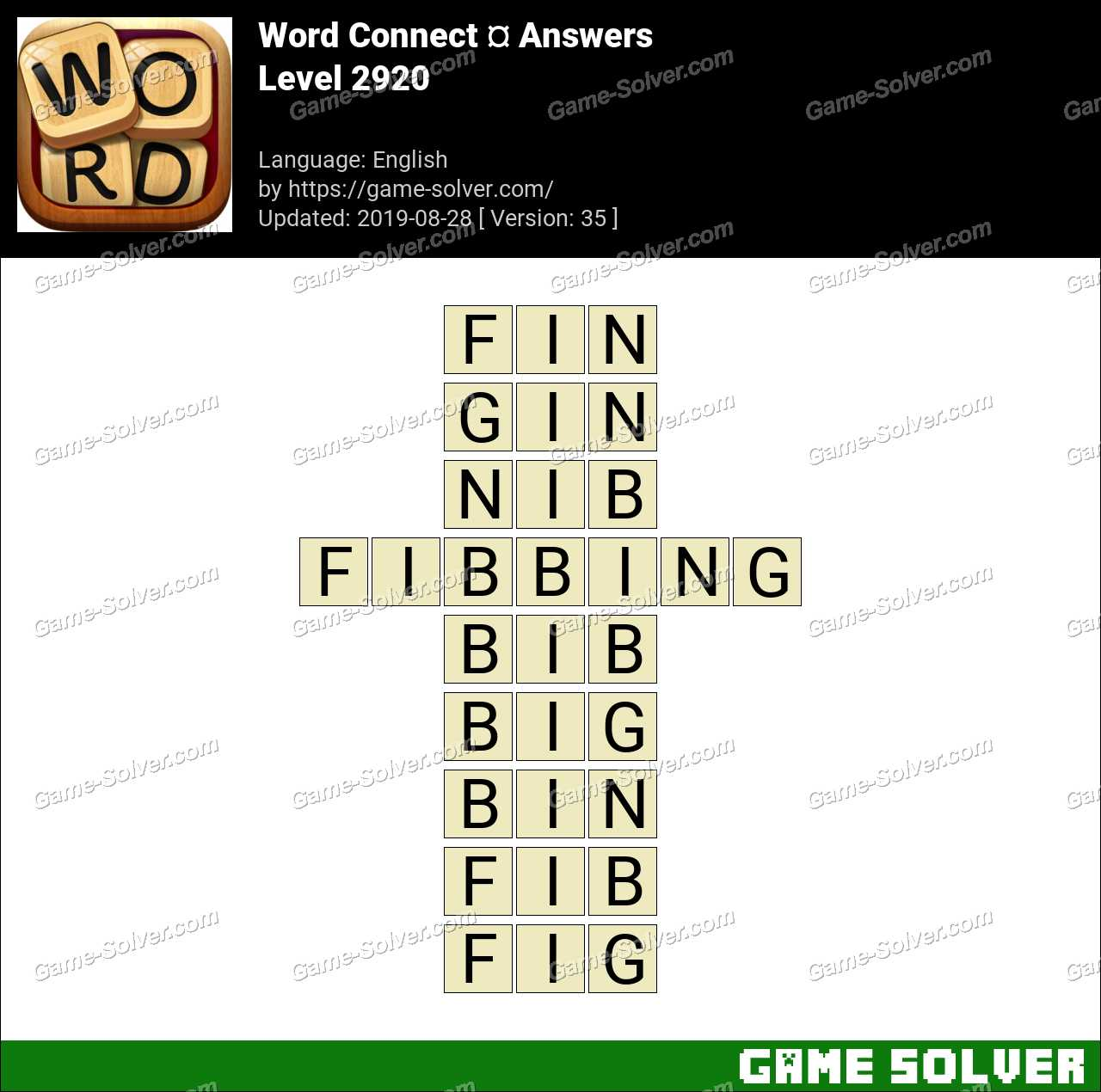 Word Connect Level 2920 Answers
