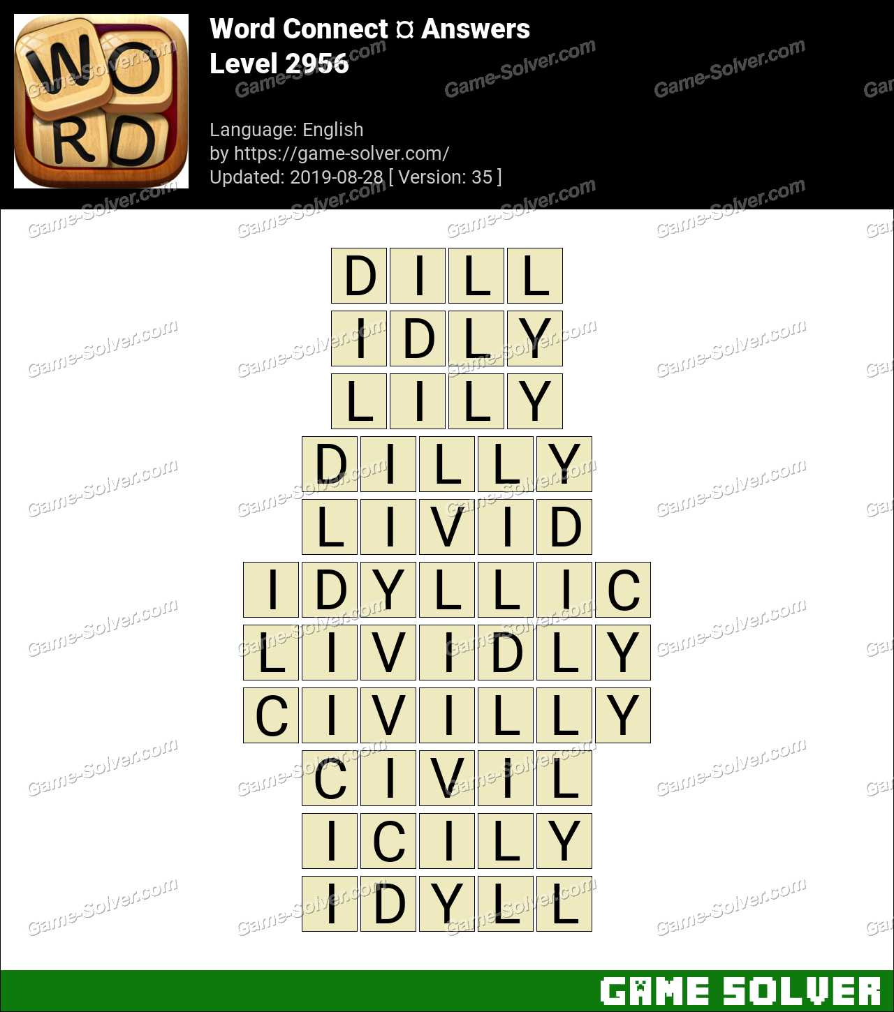 Word Connect Level 2956 Answers
