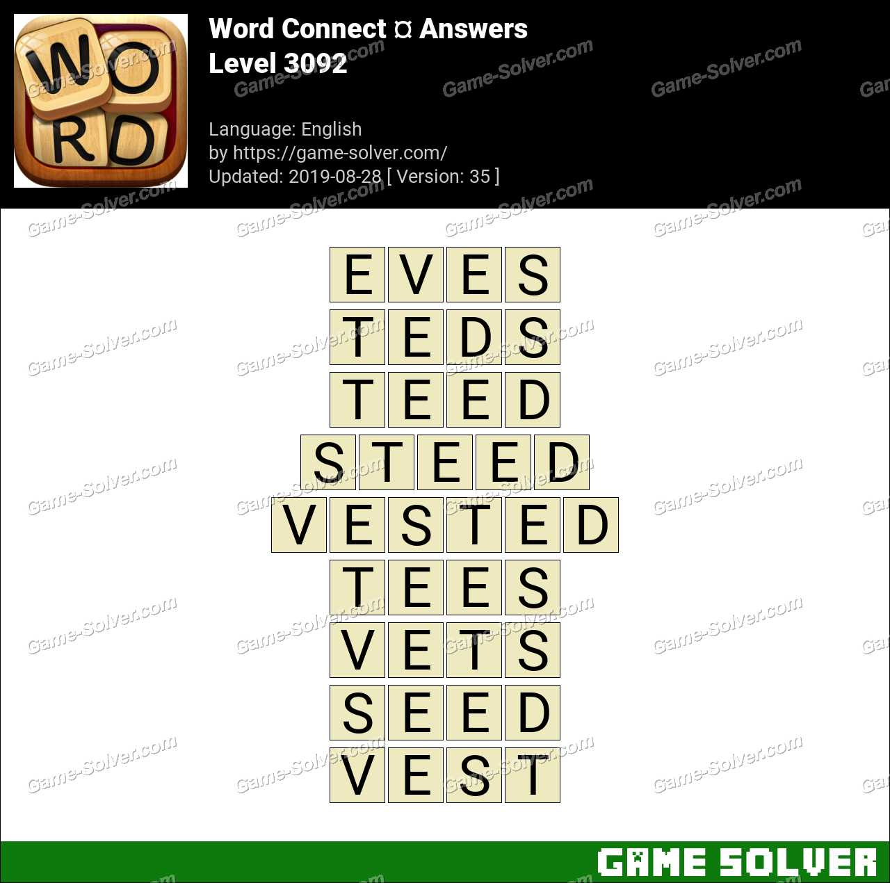 Word Connect Level 3092 Answers