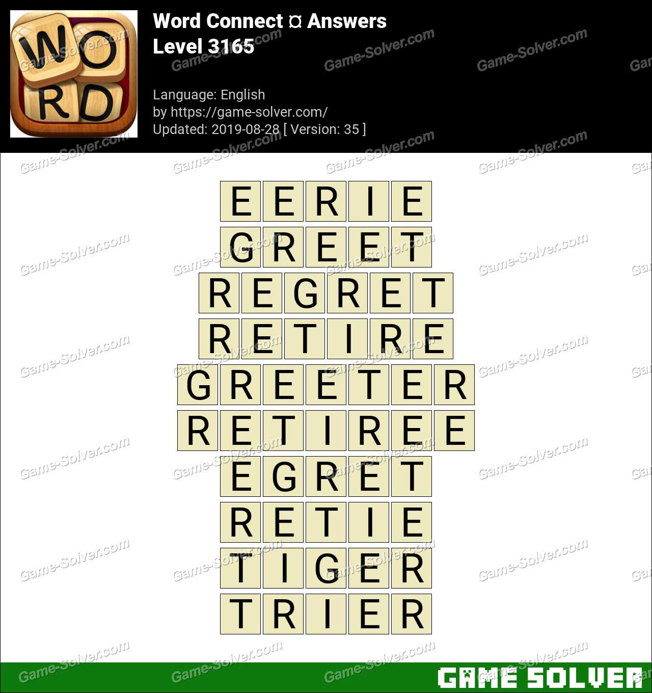 Word Connect Level 3165 Answers