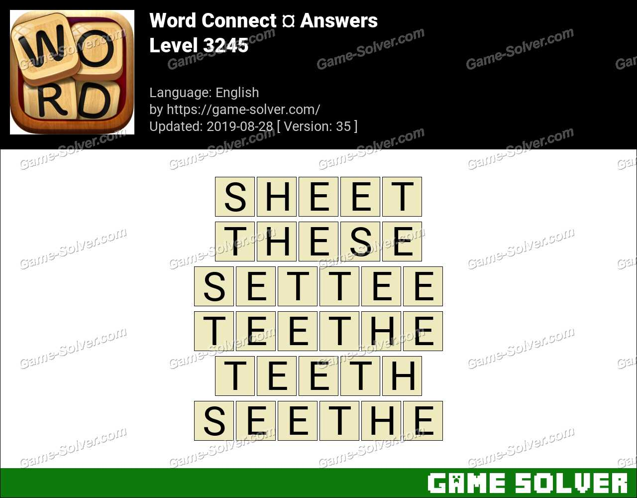 Word Connect Level 3245 Answers