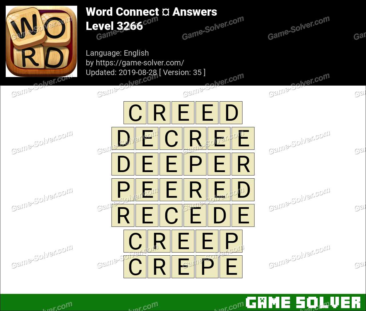 Word Connect Level 3266 Answers
