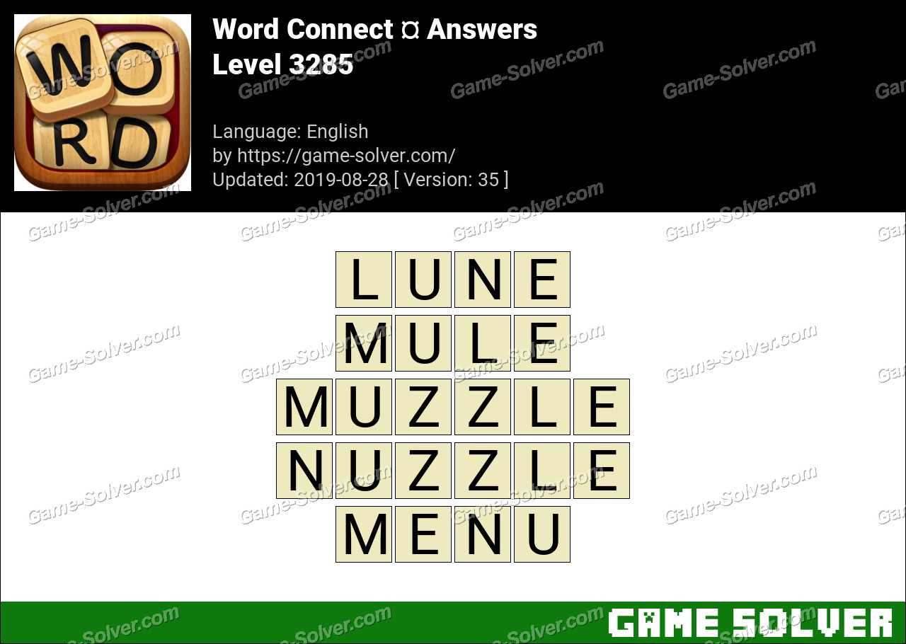 Word Connect Level 3285 Answers