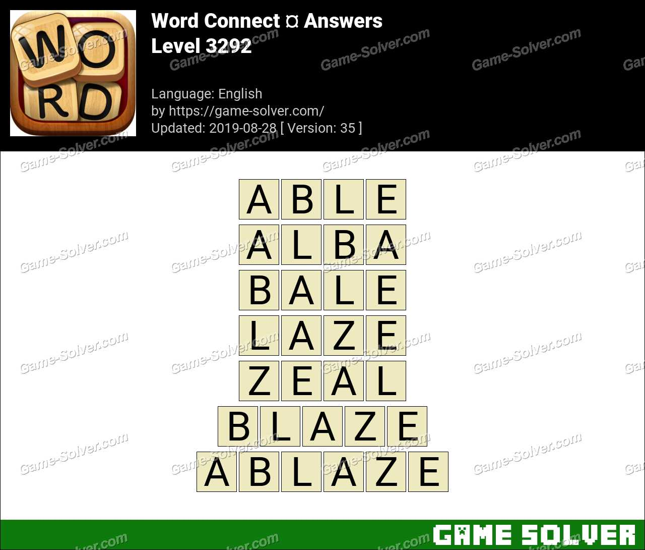 Word Connect Level 3292 Answers