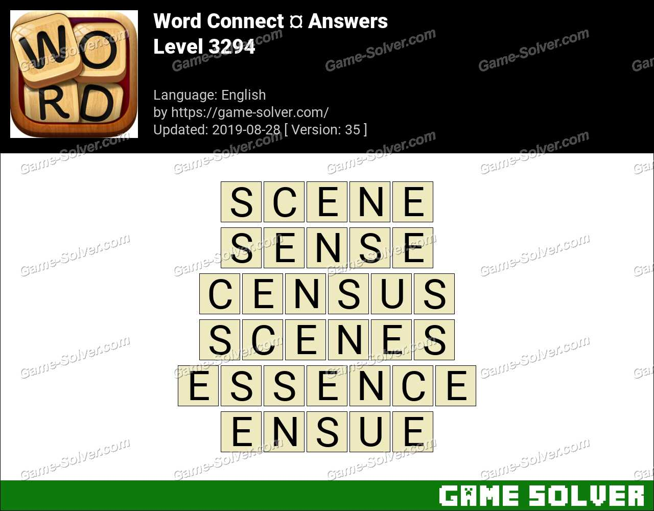 Word Connect Level 3294 Answers