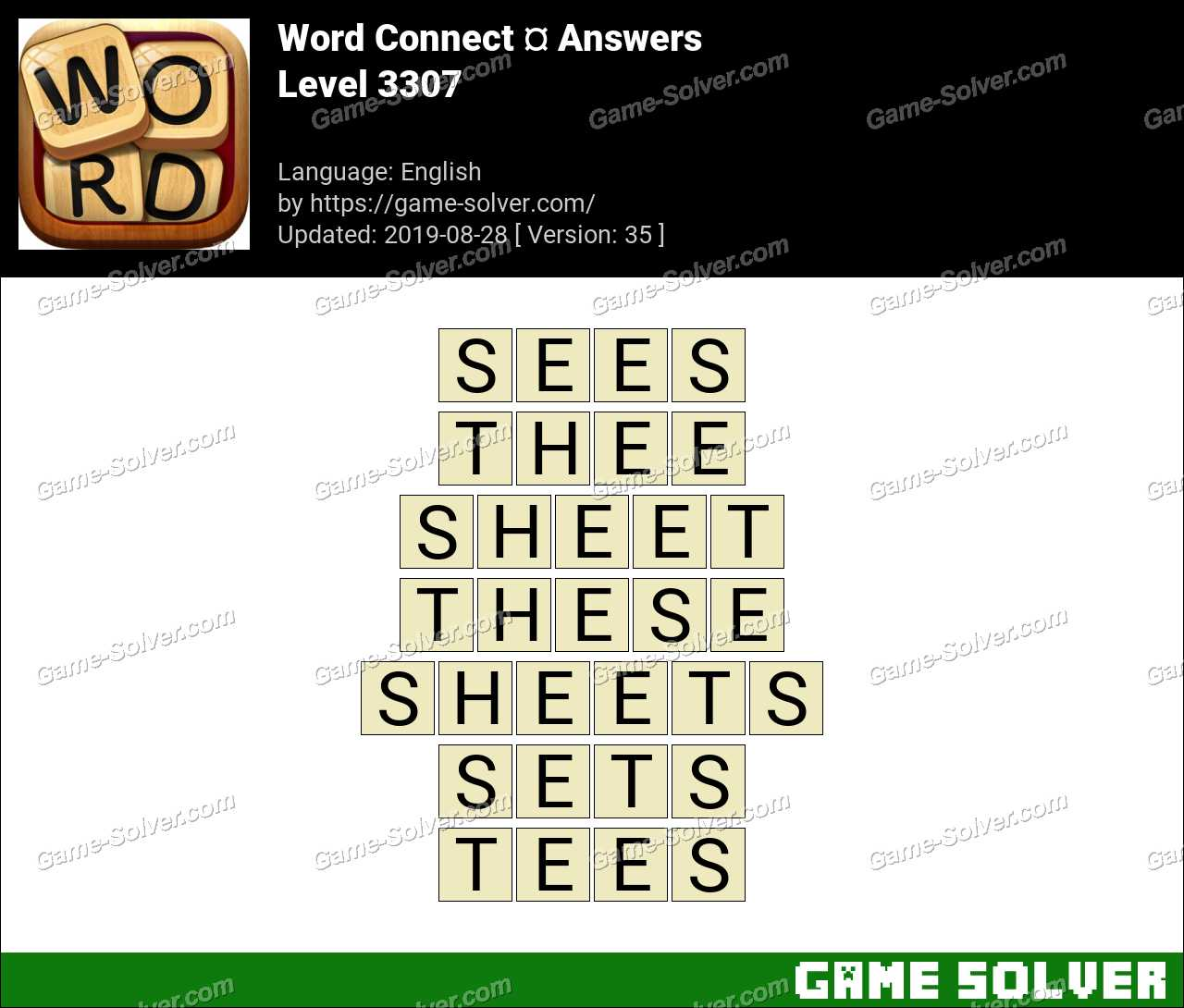 Word Connect Level 3307 Answers