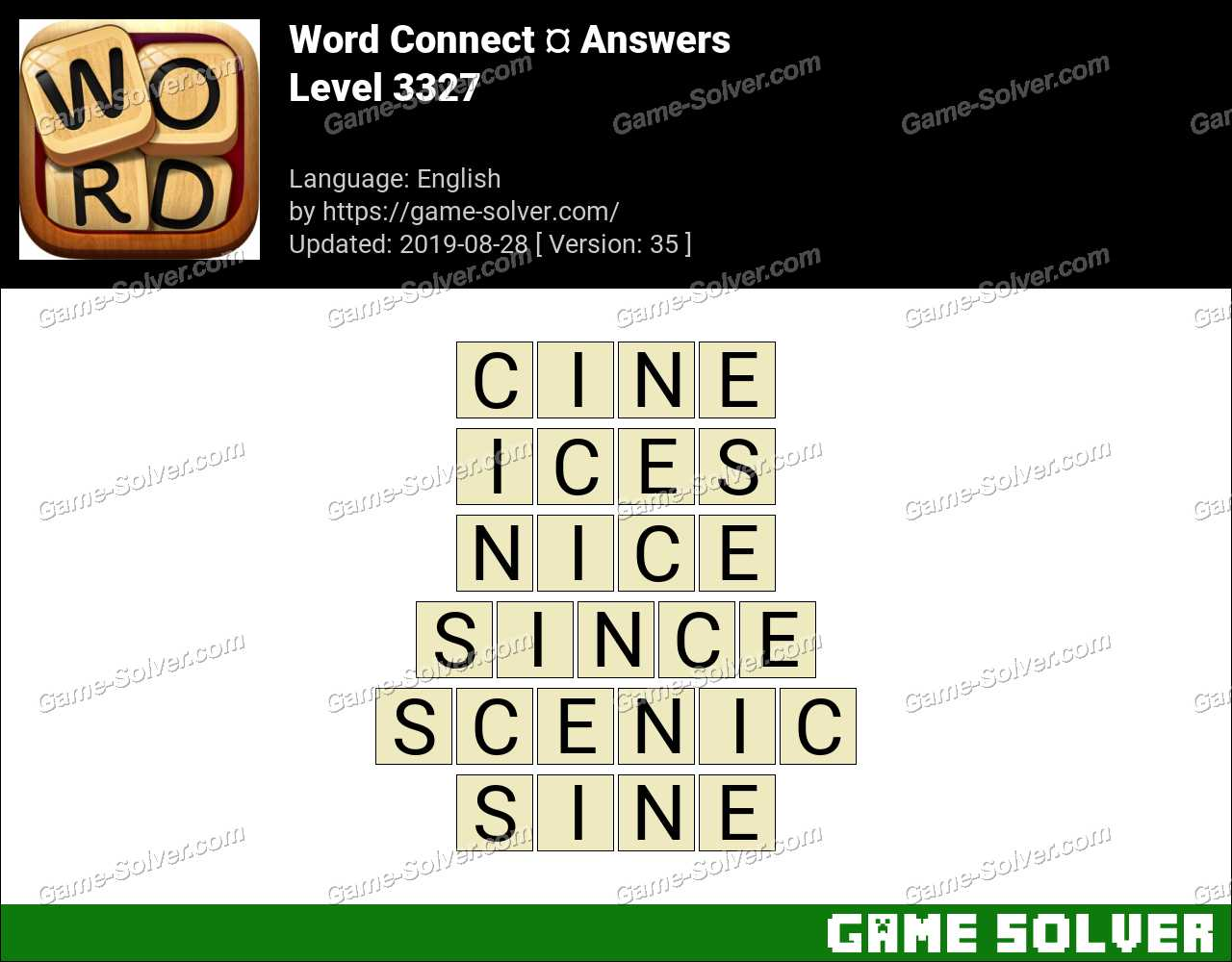 Word Connect Level 3327 Answers