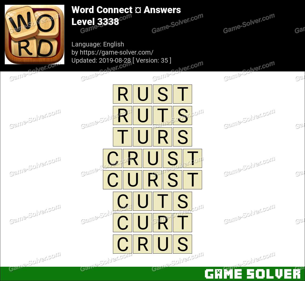 Word Connect Level 3338 Answers
