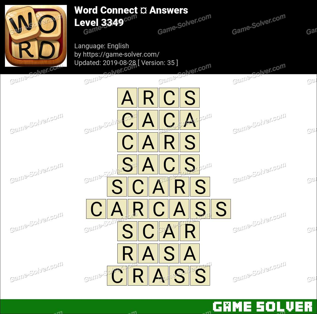 Word Connect Level 3349 Answers