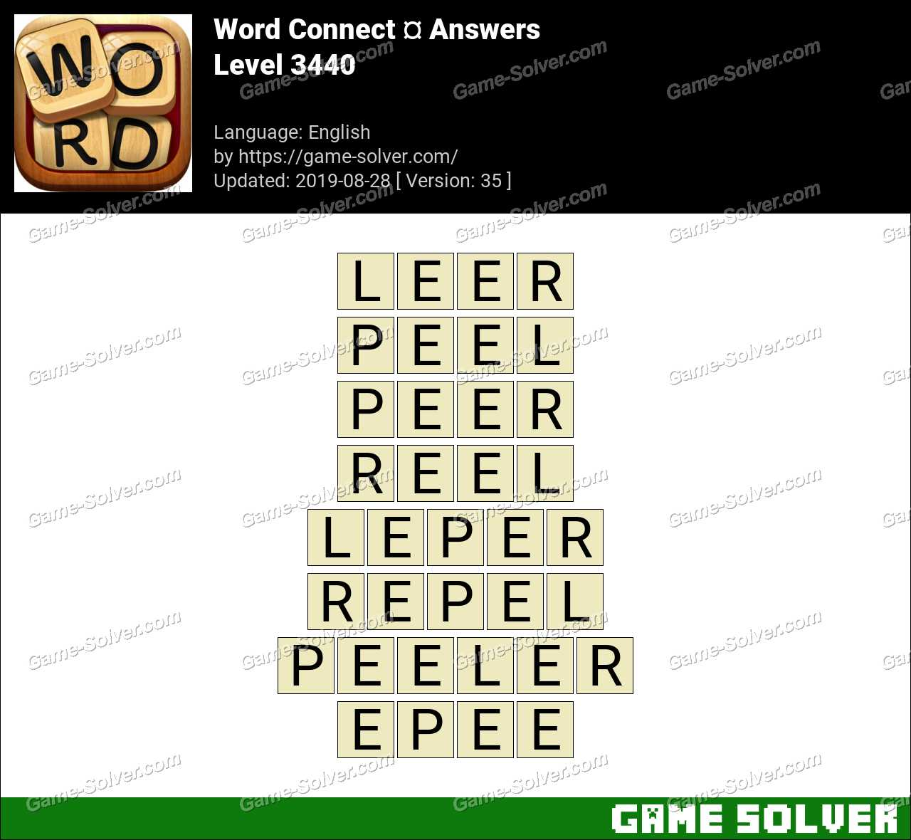Word Connect Level 3440 Answers