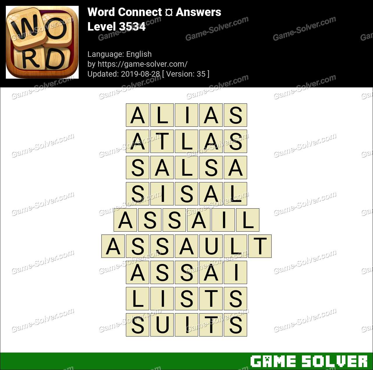 Word Connect Level 3534 Answers