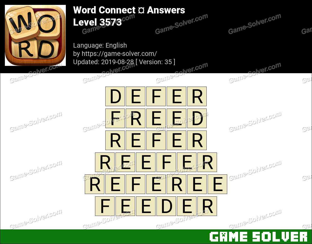 Word Connect Level 3573 Answers