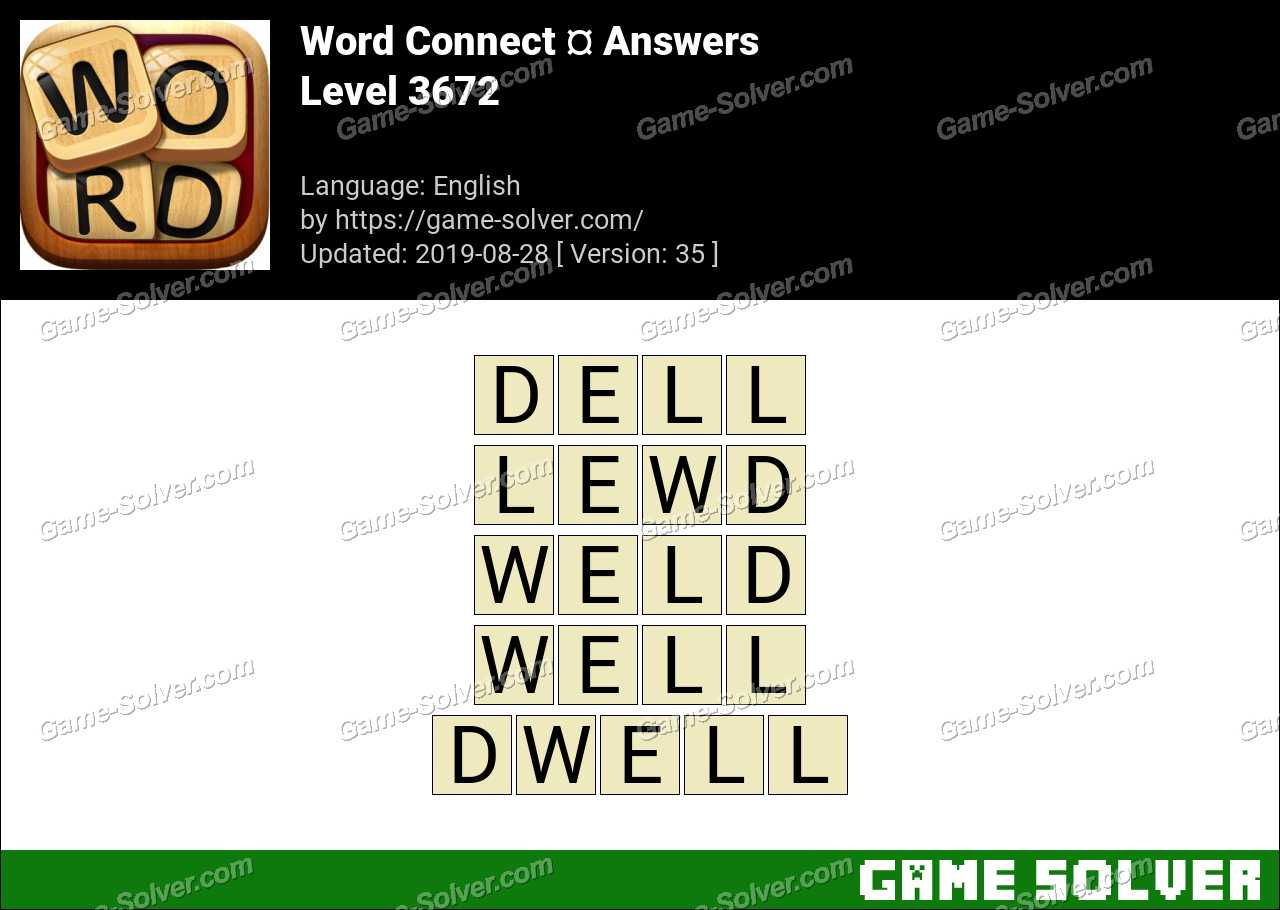 Word Connect Level 3672 Answers