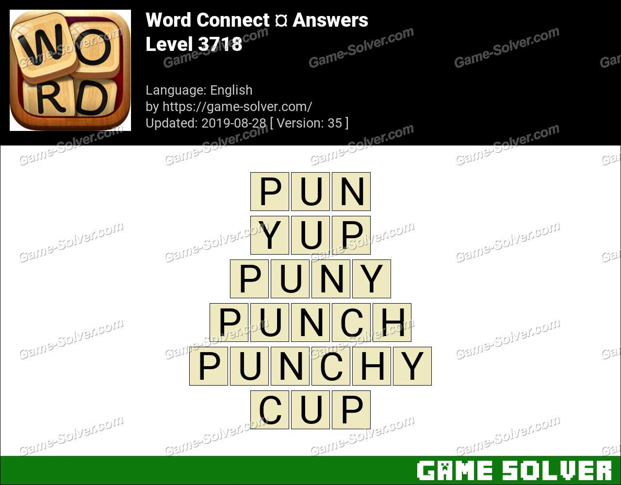 Word Connect Level 3718 Answers