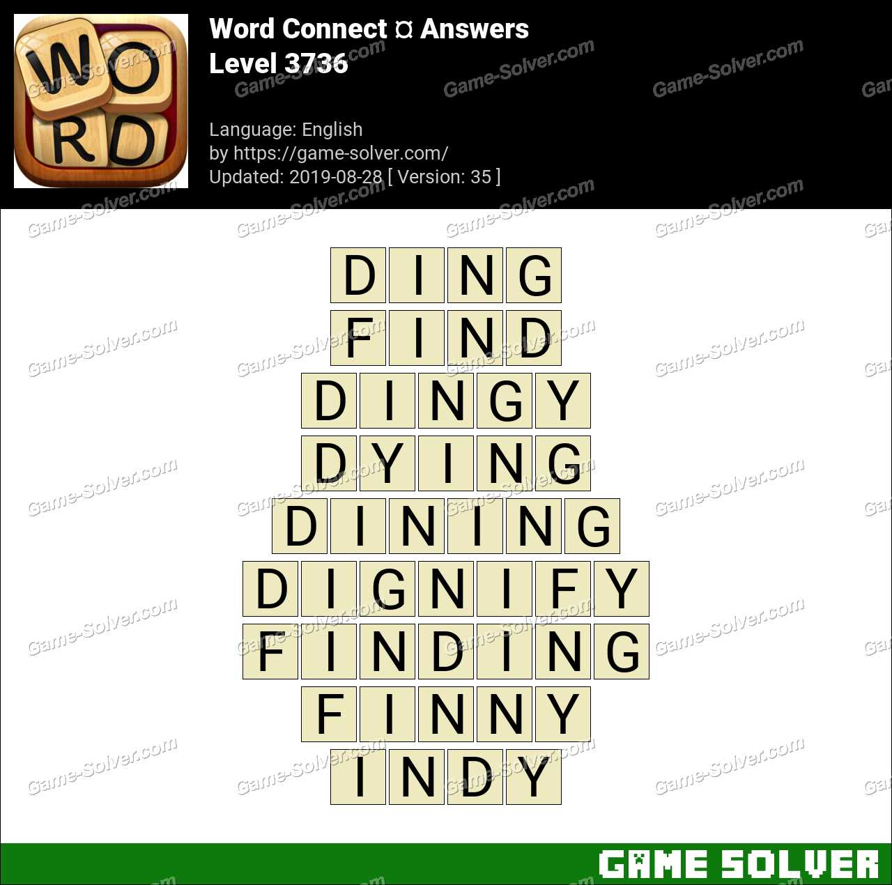 Word Connect Level 3736 Answers