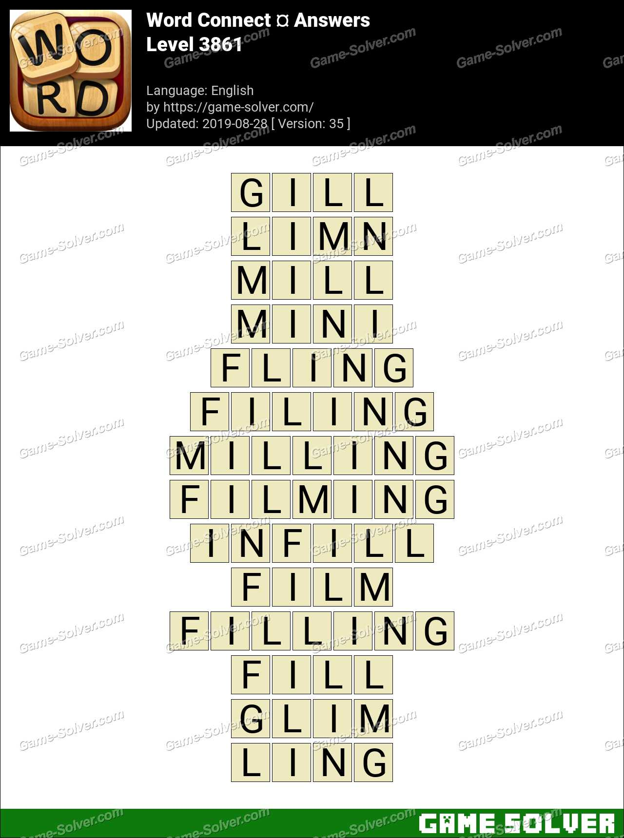 Word Connect Level 3861 Answers