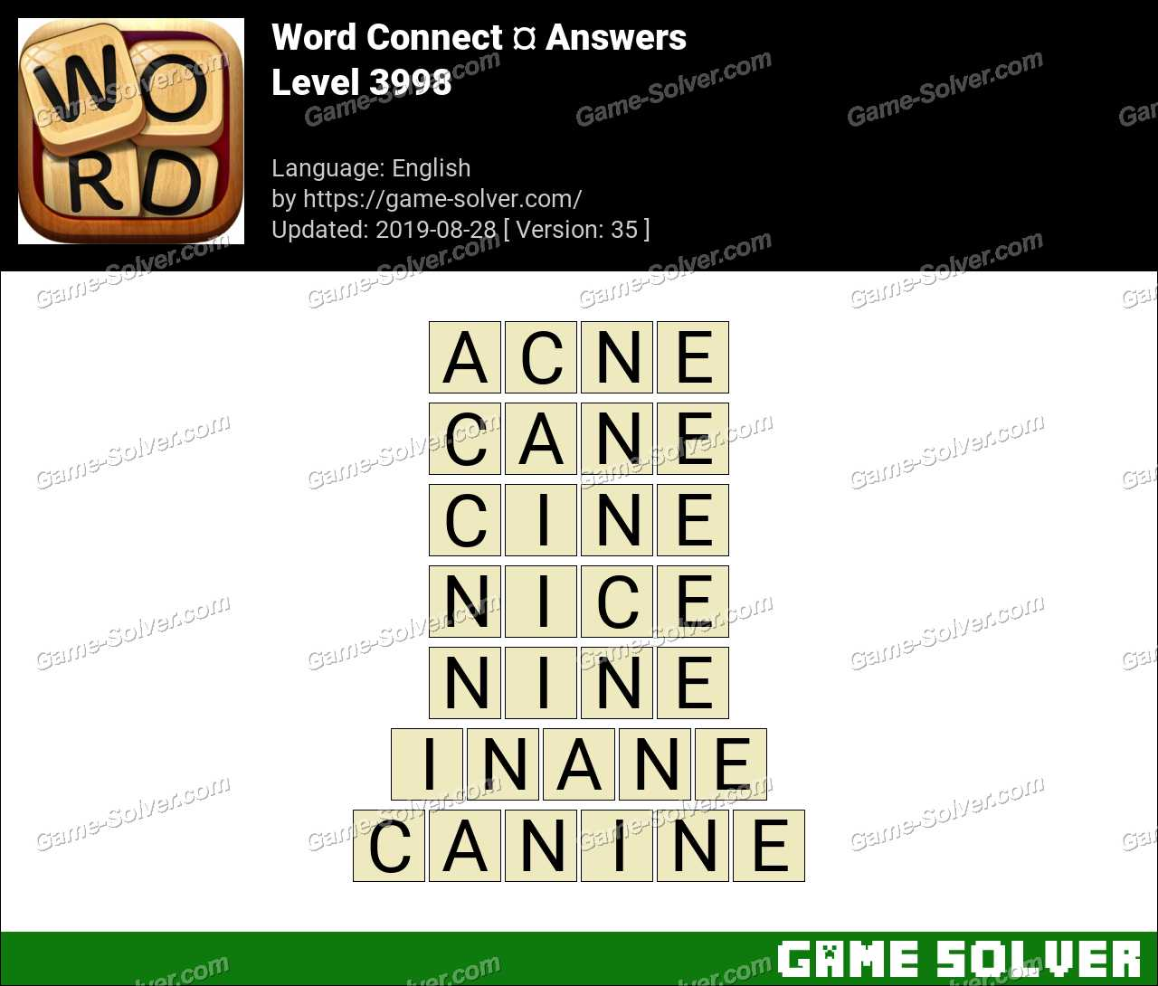 Word Connect Level 3998 Answers
