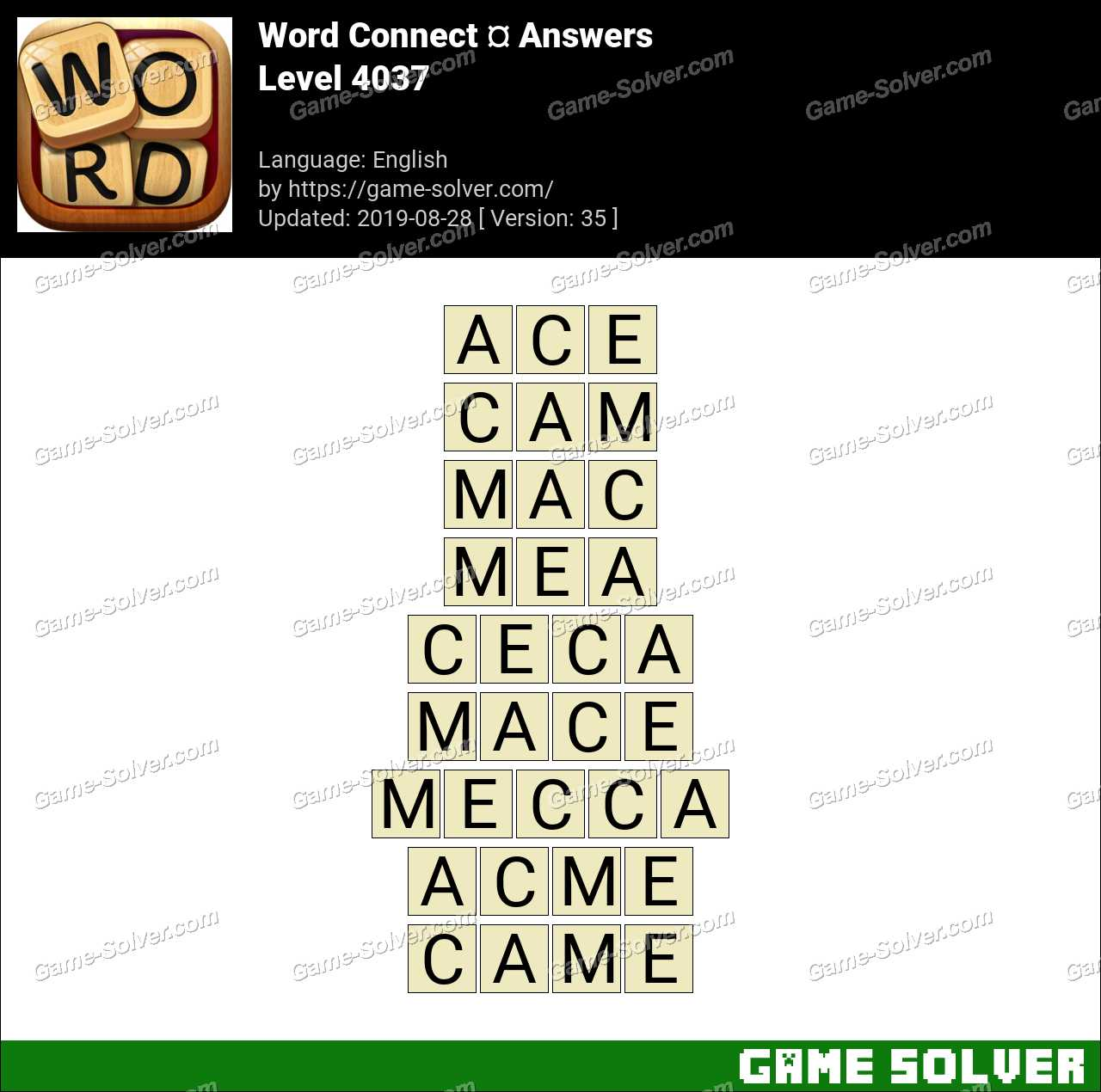 Word Connect Level 4037 Answers
