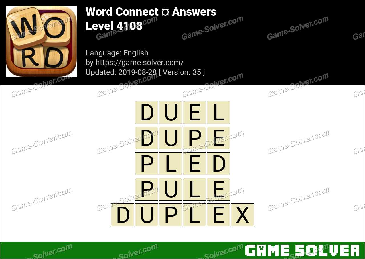 Word Connect Level 4108 Answers