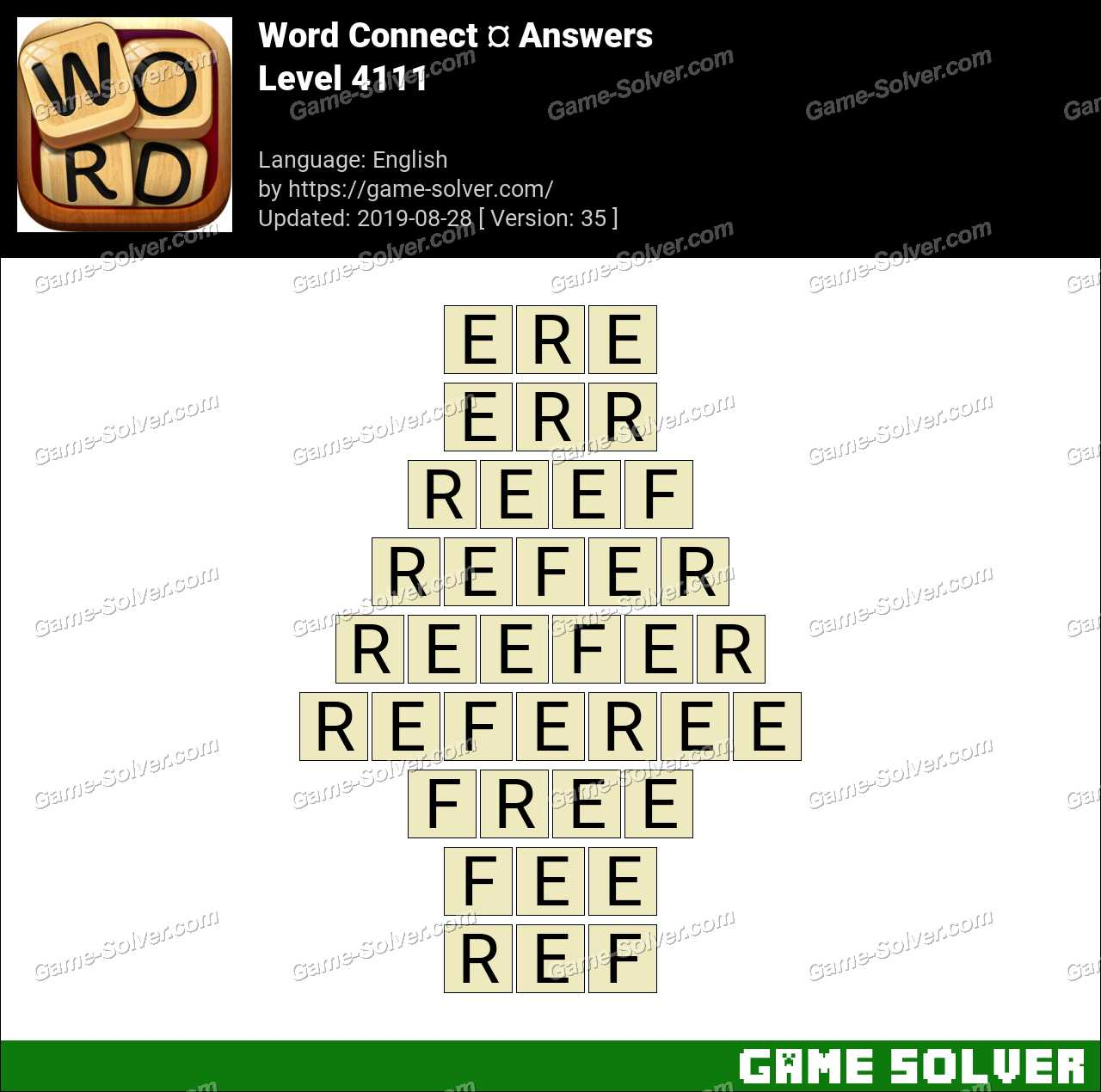 Word Connect Level 4111 Answers