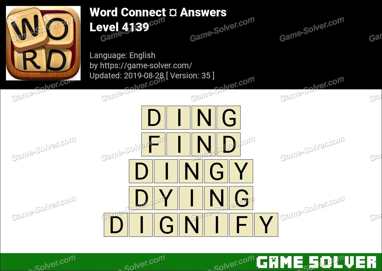 Word Connect Level 4139 Answers